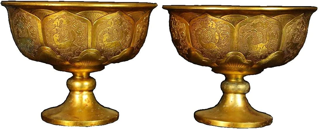 LAOJUNLU Collection of Gilt Indefinitely Gold Lotus online shopping Ma Antique Goblet Pattern