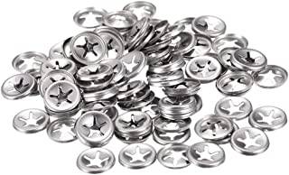 uxcell 5mm Inner Dia Stainless Steel External Tooth Lock Washer Silver Tone 50pcs