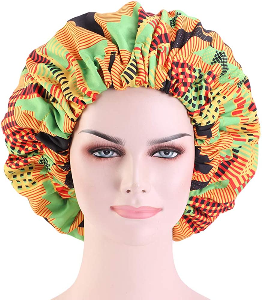 CCCHO Popular shop is Product the lowest price challenge Colourful Extra Large Turbans Bonnet Double Sleep Layered