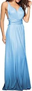 Women's Infinity Gown Dress Multi-Way Strap Wrap Convertible Maxi Dress