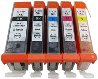 comptable ink 5 color 471 for printer canon mg5740