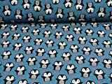 Glünz Softshell Pinguine mit Herz, Jeansblau (25cm x