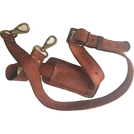 Dovewill Adjustable Genuine Leather Crossbody Bag Shoulder Bag Strap Handles Bag Accessories 2cm Wide Brown