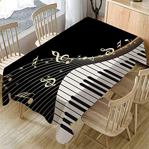 BFCDF linnen tafelkleed, hoekig, afwasbaar, tafelkleed, onderhoudsvriendelijk, vuilafstotend, stofdicht, tafelkleed, eettafel, salontafel, decoratie (140cm x 80cm/55