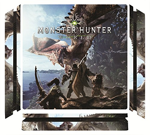 Monster Hunter World MHW Game Skin for Sony Playstation 4 Slim - PS4 Slim Console