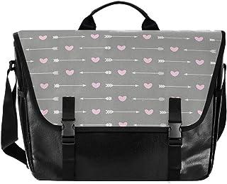 Bolso de lona con diseño de flecha a rayas para hombre y mujer, estilo retro, ideal para iPad, Kindle, Samsung