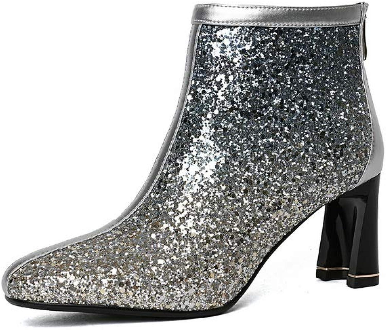 AdeeSu Womens Studded Dance-Ballroom Bucket-Style Urethane Boots SXE04850