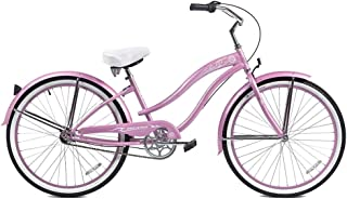 Micargi Rover NX3 Beach Cruiser Bike, Pink, 26-Inch