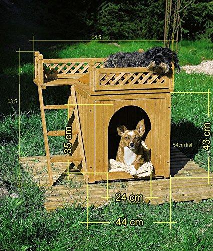 Deuba Hundehütte Hundehaus Katzenhaus Hundehöhle Tierhaus Hund Holz Box Garten Sonnenterasse