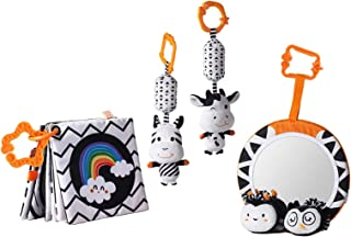 simhoa Cartoon Stuffed Animal Rattle Toys Wind Chime Cloth Book for 0-12 Months Baby Cribs