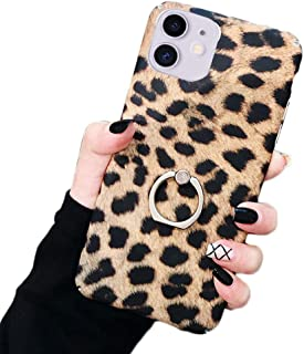Bonitec Jesiya for iPhone 11 Case Kickstand Fashion Luxury Cheetah Leopard Print Pattern Case Ultra-Thin with Ring Holder ...