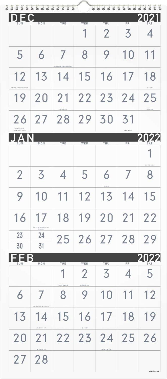 2022 Wall Calendar by Max 86% OFF AT-A-GLANCE 12