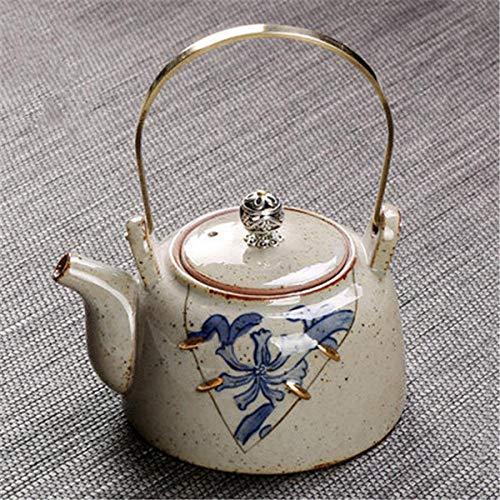Theepot Thee Ketel 220 Ml Pottenbakkerij Antiek Theepot Huishoudelijke Theepot Ketel met Koper Handvat Drinkware-6