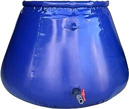 XBSXP Seau extérieur de Stockage d'eau de Grande capacité avec Robinet, Grand Sac de Stockage d'eau Portable Pliable pour ...