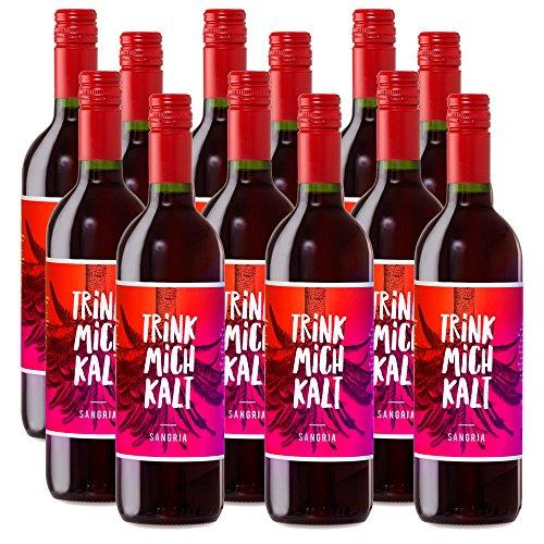 Sangria aus Spanien | TRINK MICH KALT - Exklusive Sonderedition | Das fruchtig-süße Kult-Getränk | Weinpaket Spar-Set mit 12 Flaschen