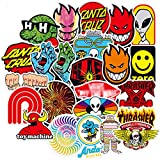 Skateboard Brand Stickers for Water Bottles,100PCS Fashion Cool Aesthetic Hypebeast Stickers,Laptops Sticker,Waterproof Vinyl Decal Sticker for Phone, Computer,Mac Book,Skateboard,PS4, Xbox ONE