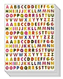 A to Z Little Stickers High 0.6cm - Colorful Alphabet Letters Self-Adhesive Glitter Metallic Foil Reflective Decorative Scrapbook for Name Photo Card Diary Album Planners (Each Letter High 0.25')