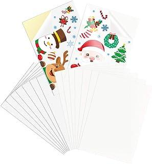 Ayffoer Printable Vinyl Sticker Paper for Inkjet Printer 8.5