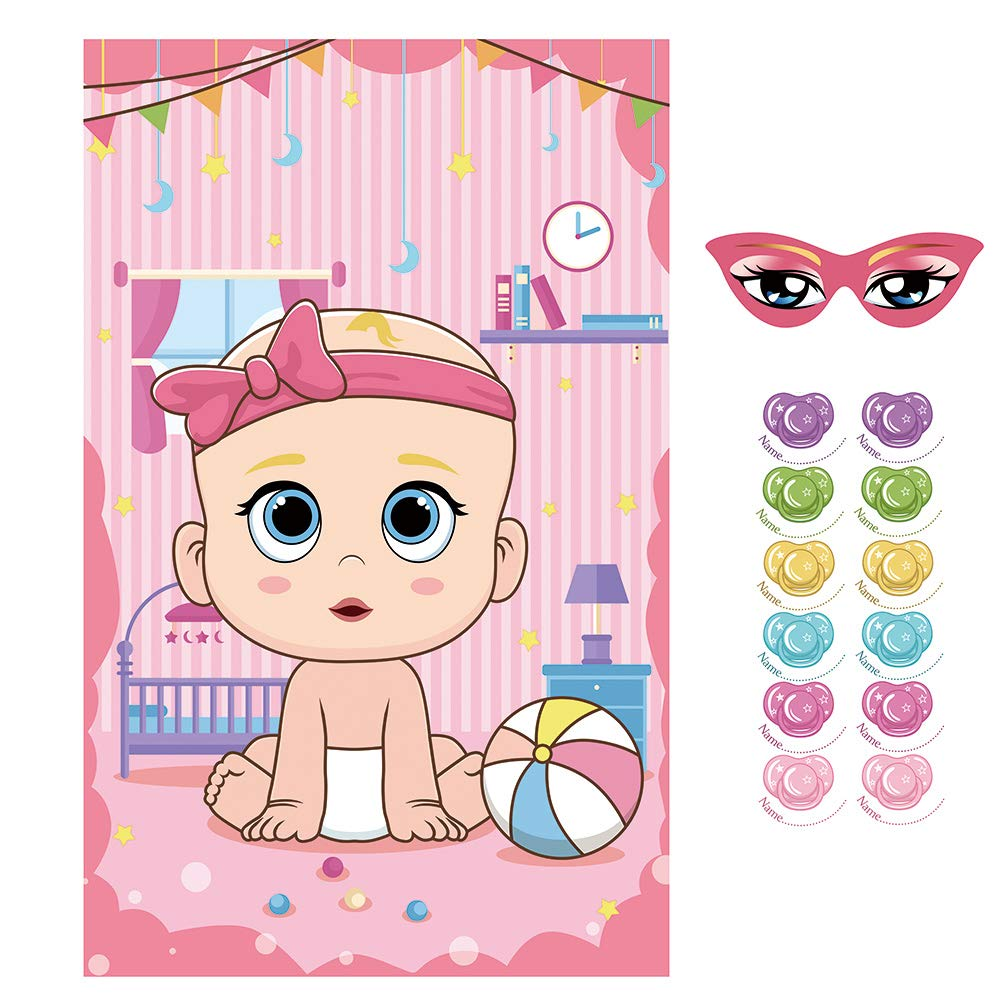 """LOKIPA /""""Pin The Dummy/"""" on The Baby Game Baby Shower Party Favors and Game"""