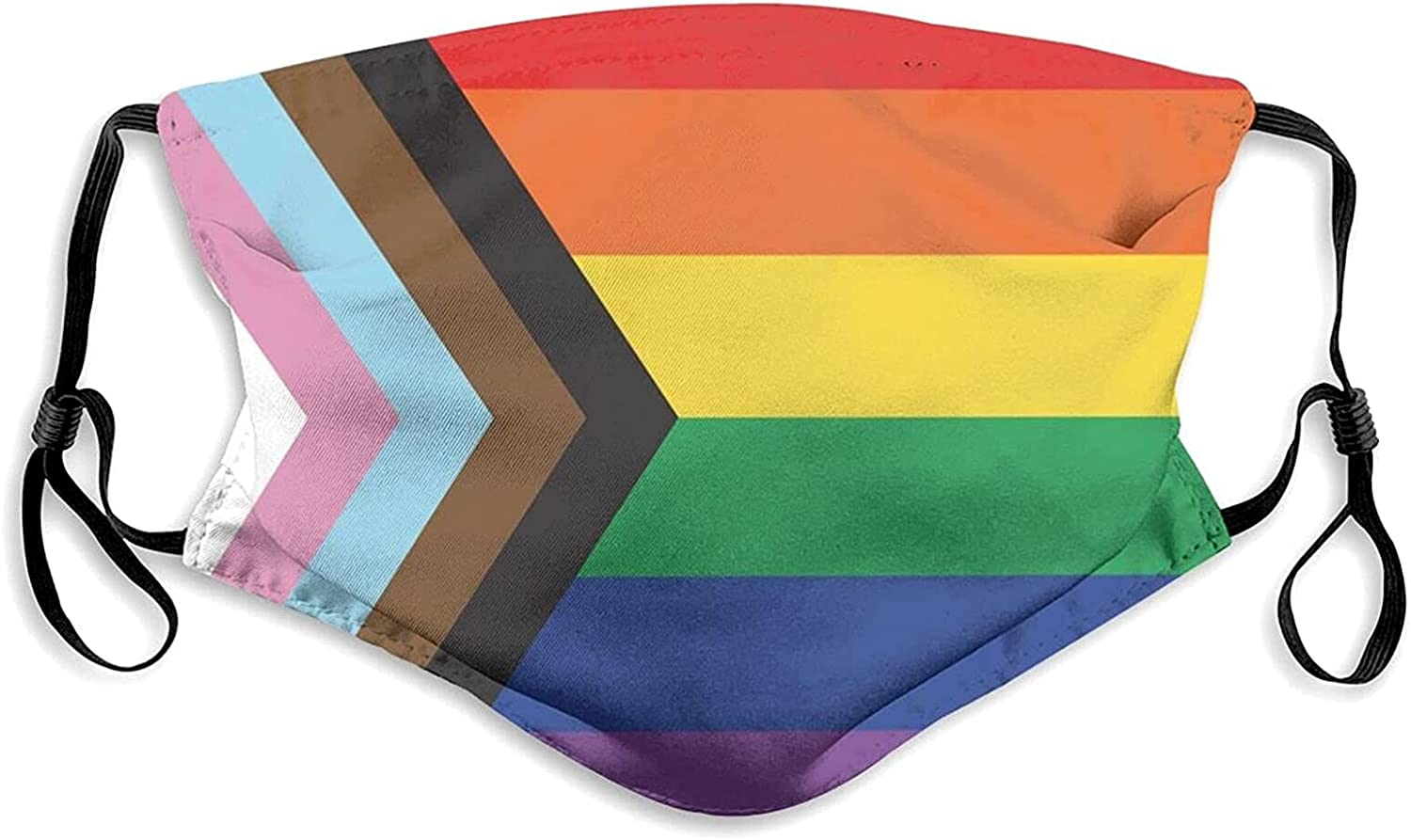 Rainbow Gay Pride Face Mask, Breathable LGBT Gay Pride Flag Balaclavas with 2 Filters for Adults Men Women