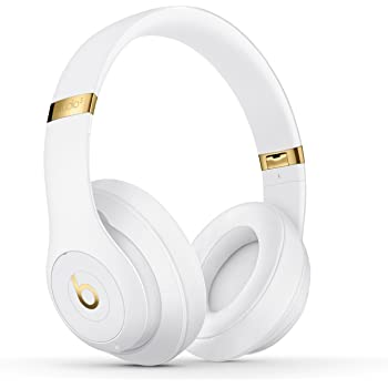 Beats by Dr. Dre Studio 3 Wireless Over-Ear Headphones with Built-in Mic - White (Renewed)
