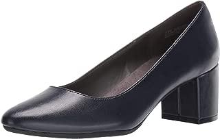 blue block heel pump
