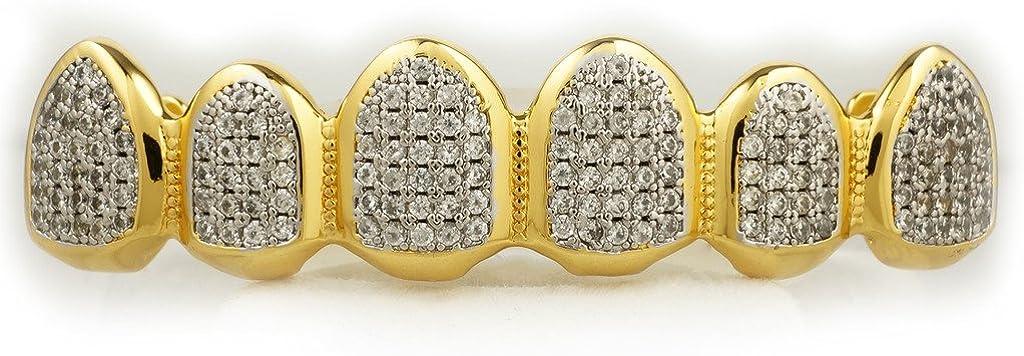 Niv's Bling 18K Gold Plated CZ Top Bottom Custom Grillz
