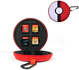 dainslef Game Memory Card/Game Card Case, Pokéball Game Cards Holder, Game Storage Case Up to 8 Nintendo Switch Games for Nintendo Switch/Switch lite