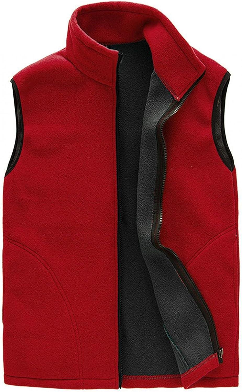 Beshion Unisex Couples Outdoor Vest Full Zip Winter Warm Sport Sleeveless Outwear with Pocket Lightweight Jacket Coat