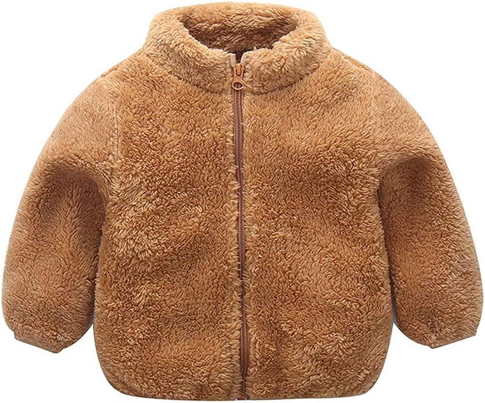 Sitmptol Unisex Toddler Girls Boys Fleece Jacket Zip Up Lightweight Coat Warm Winter Outwear