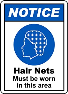 hair nets must be worn sign