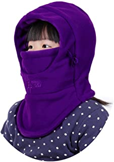 Rgslon Children's Balaclava Windproof Winter Hat Cold Weather Face Mask for Kids
