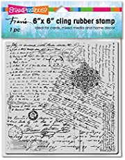 STAMPENDOUS CLING RUBBER STAMP PST SCRIPT