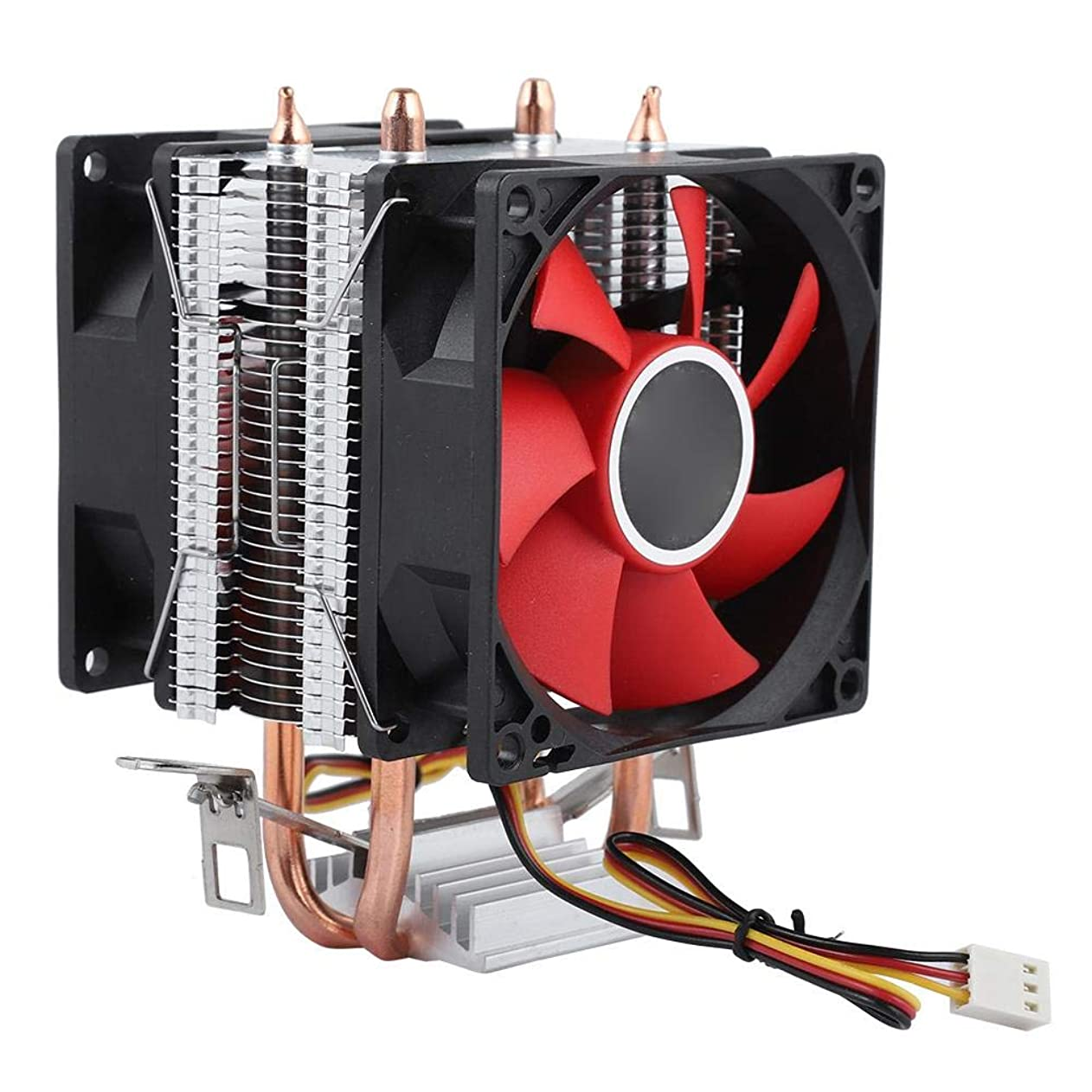 Serounder Dual CPU Cooling Fan, Mini CPU Air Cooler Fan 2 Copper Heat Pipe Heatsink Quiet Radiator for Computer PC vtvpmapppgq28647