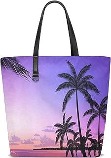Palm Tree Funny Tote Bag Purse Handbag Womens Gym Yoga Bags for Girls