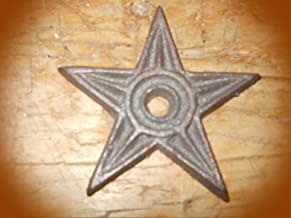 12 Stars Architectural Stress Washer Texas Lone Star Rustic Ranch Vintage Cast Iron Supplies for Home Decor by CharmingSS (with NO Screws)