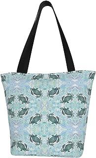 Lesif Einkaufstaschen, Krabben-Kollektion, rote Spitzen, Segeltuch, Einkaufstasche, wiederverwendbar, faltbar, Reisetasche, groß und langlebig, robuste Einkaufstaschen