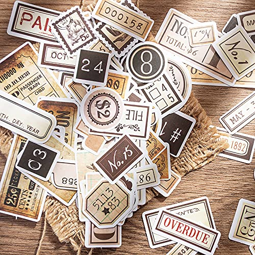 XXCKA 94 Vintage hand konto klistermärke materialpaket inspirerande engelska term gräns faktura hand konto klistermärke
