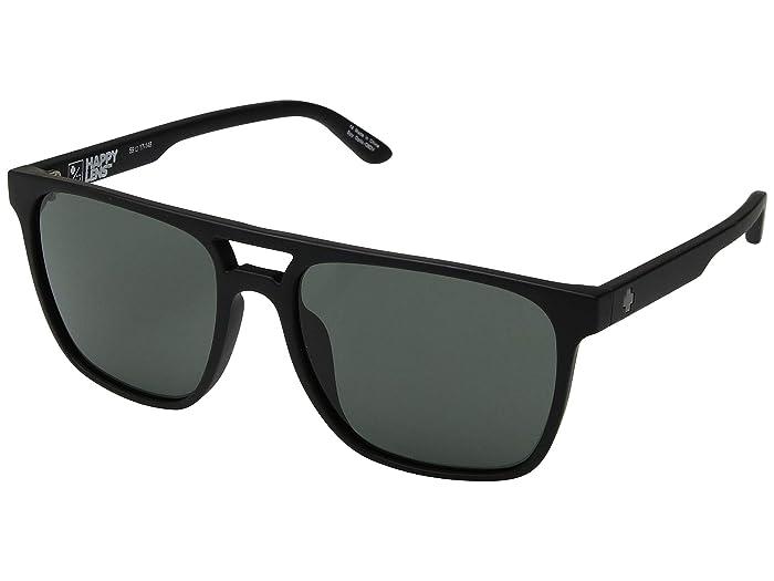 Spy Optic Czar (Soft Matte Black/Happy Gray Green) Athletic Performance Sport Sunglasses