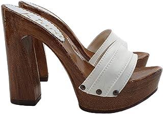 Chaussures et Sacs kiara shoes Sabot Talon Confortable en Daim Marron G701-CAM-CUOIO Chaussures femme
