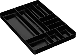 Ernst Manufacturing Organizer Tray, 10-Compartments, Black