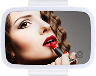 Car Sun Visor Mirror with LED Lights Makeup Sun-shading Cosmetic Mirror Adjustable Vanity Mirror Clip on Automobile Touch ...