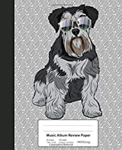 Music Album Review Paper: Book Miniature Schnauzer Dog (Weezag Music Album Review Paper Notebook)