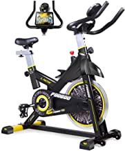pooboo Indoor Cycling Bike, Belt Drive Indoor Exercise Bike,Stationary Bike LCD Display..