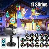 Projecteur de Noël, LED Lampe Projecteur de Noël avec 17 Diapositive, Lumière...