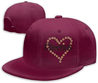 Cheerios Heart Solid Flat Bill Snapback Hip Hop Hat Baseball Cap for Men & Women