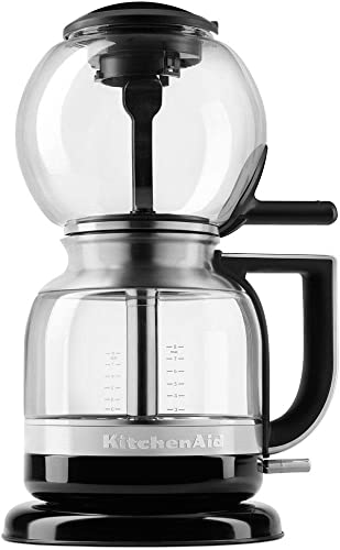 popular Coffee Brewer 8-Cup Featuring Magnetic new arrival Locking Seal, Glass Construction with Stainless Steel Siphon Tube lowest in Onyx Black sale