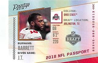 2018 Prestige NFL NFL Passport #PP-JB J.T. Barrett Ohio State Buckeyes Panini Football Card