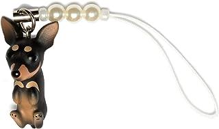 ペットラバーズ 犬種 Dog 92 Miniature Pinscher ミニチュアピンシャー ブラックタン ビーズ ストラップ DN-2303