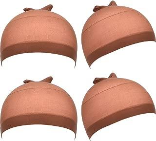 eBoot Nylon Wig Caps, 4 Pieces (Light Brown)